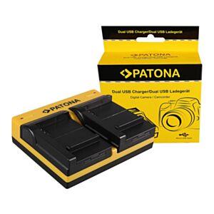 BP-511 Canon - hitri dvojni USB polnilec - Patona