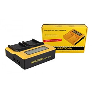Battery charger Synchron DUAL for Sony NP-FM with LCD - Patona