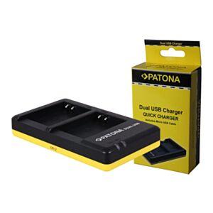 LI-90B Olympus - hitri dvojni USB polnilec - Patona