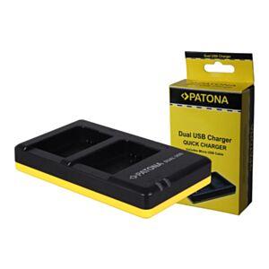 NP-FW50 Sony - hitri dvojni USB polnilec - Patona