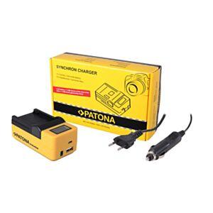 Polnilec baterije Synchron za Panasonic BLC12 z LCD - Patona