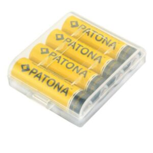Polnilne AA baterije Patona 2450mAh - NI-MH  - 4 kosi + škatlica