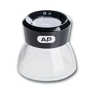 AP loupe magnifier 8x with transparent base