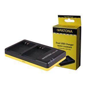 DMW-BLF19 Panasonic - hitri dvojni USB polnilec - Patona