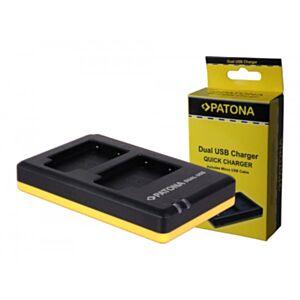 Li-40B Olympus - hitri dvojni USB polnilec - Patona