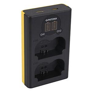 NP-W235 Fujifilm - hitri dvojni USB LCD polnilec - Patona