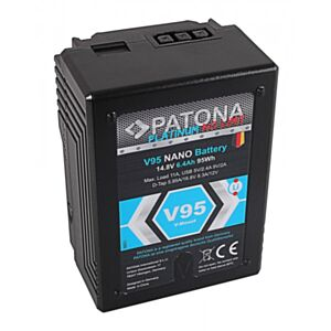V-Mount Battery PATONA Platinum NANO V95 95Wh (RED ARRI)