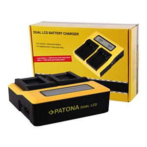 Battery charger Synchron DUAL for Sony BP-U60 with LCD - Patona