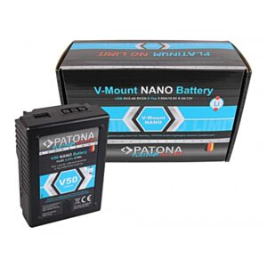 V-Mount Battery PATONA Platinum NANO V50 47Wh (RED ARRI)