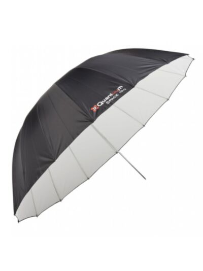 Quadralite Space 150 parabolic - studijski dežnik - bel