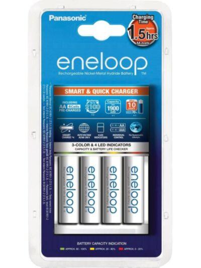 Panasonic Eneloop Smart & Quick polnilec + 4x AA baterije - 1900mAh