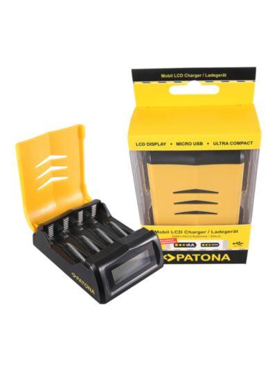 Hitri polnilnec za AA in AAA baterije z LCD zaslonom - Patona