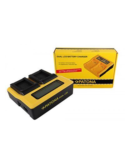 Polnilec baterije Synchron DUAL za Sony NP-FZ100 z LCD - Patona