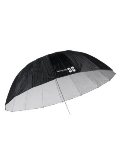 Quadralite Space 185 parabolic studijski dežnik bel
