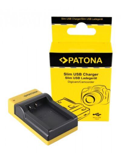 Slim micro-USB battery charger for Canon LP-E17 - Patona